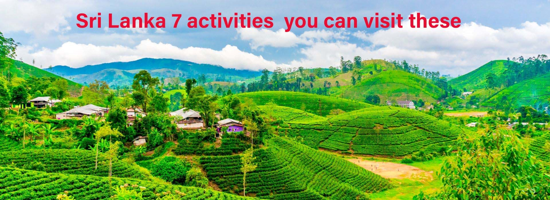 Sri Lanka 7 activities you can visit these